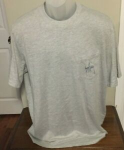 Guy Harvey Sport Gray Heather 3 Graphic Print T Shirt Size Large NWT
