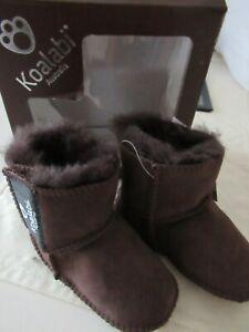 BNIB Koalabi Sheepskin Chocolate 6+Months Baby Boots