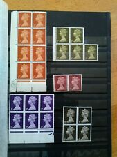 Gb Uk Machin Qeii Blocks Some Mint with Free Shipping or the stock book