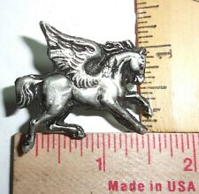 """vintage """"Pegasus"""" pin collectible old mythical fantasy winged horse pinback"""