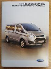 Genuine Ford Tourneo Custom Transit Custom   Handbook Manual