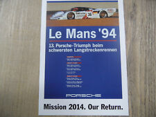 PORSCHE Postkarte Mission 2014 Our Return Nr. 3 SR318