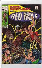 Marvel Spotlight On Red Wolf #1 VG 4.0 1971 See My Store