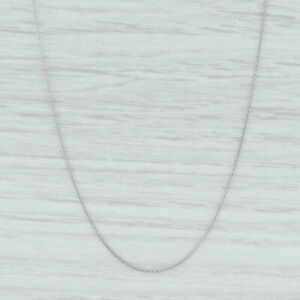 """New Round Cable Chain Necklace 950 Platinum 20"""" 0.9mm Lobster Clasp"""