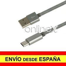 Cable Micro USB a USB para XIAOMI REDMI 6 / 6A Nylon Trenzado 1 Metro Gris a2337