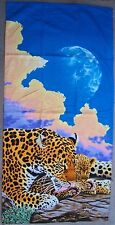 """Beach Blanket Towel Leopard and Cub Together Time 30"""" x 60"""" New 100% Cotton"""