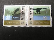 Canada, Scott # 1204a/1205a(pr),Complete Set 1988 Canadian Wildlife Issue Mnh