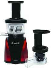 Kitchen Plastic Vertical Juicer Locking Lid Slowstar Bpa Free Quiet Black Red