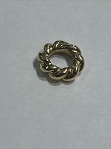 Authentic Pandora 14k 585 ALE Spacer Charm Twisted