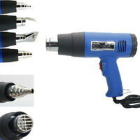 New 110V Dual Temperature Heat Gun with Accessories Shrink Wrapping 4 Nozzles