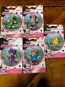 Disney Jr  Minnie Figurines: Set of 5- Minnie (x2) Melody, Millie, Cuckoo Loca
