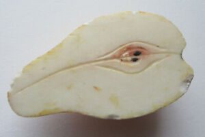 Vintage Half Pear Stone Fruit Painted and Carved