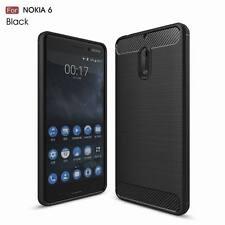 Shockproof Hybrid Fiber Brushed Soft Gel TPU Rubber Case Cover For Nokia 3 5 6 8
