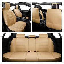 Luxury PU Leather Beige Cars Cushion Mat Universal Full Seat Four Seasons New