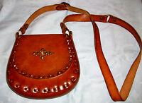 Vintage Handmade  Thick Leather Purse/Cross Body /Messenger/Shoulder Bag