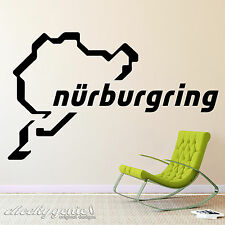 Nurburgring Racing Track Day Circuit Car Vinyl Wall Art Sticker Decal Logo