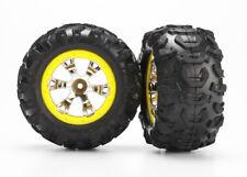 TRAXXAS 7276 rubber & Circles Geode 2.2 Yellow/TRAXXAS TIRES &