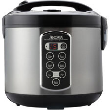 Aroma Pro 20 Cup Stainless Steel Digital Rice Cooker/Slow Cooker/Food Steamer