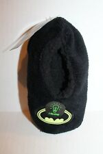Batman Glow in Dark Fuzzy Black Fleece Slippers Slipper Socks Toddler Boy 3T-4T