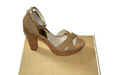 Michel Kors Camilla Leather Sandal Nude size 10