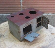 ANTIQUE VINTAGE WOOD STOVE HEATER DOLLHOUSE KITCHEN MODEL TIN TOY FOR REPAIR