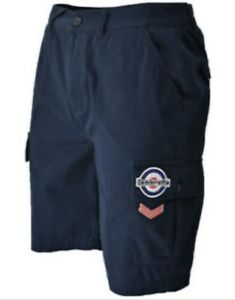 "Lambretta Cargo Shorts 36"" Waist With Pockets, Target Logo, Sergeant Stripes"