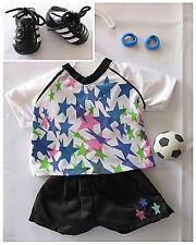 "American Girl Size_18"" Doll Clothes_SOCCER STAR Outfit + Soccer Shoes & Ball_NEW"