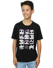 Disney Niños Nightmare Before Christmas Many Faces of Jack Squares Camiseta