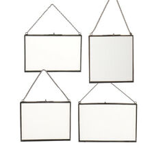 4 Size Metal Chain Wall Display Hanging Glass Photo Picture Frame