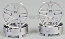 Tetsujin SOUTHERN CROSS RC Car Wheels SILVER Adjustable Offset 3-6-9mm -4 RIMS