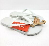 Havaianas Womens Size 7/8 Mens 6/7 White Slip On Sandals Flip Flops 4000029