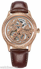 Kenneth Cole KC2886 New York Skeleton Dial Leather Strap Automatic Women's Watch