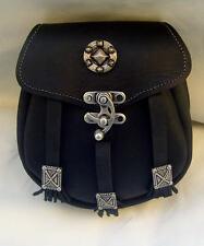 Sporran Kilt Tasche gro�Ÿ Neu Made in Germany Leder Kilttasche Echtleder schwarz