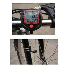 LCD Digital Bike Cycling Computer Waterproof Odometer Speedometer Stopwatch UK