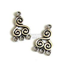 5 Connecteurs entre-deux Spirale 21x13x1.5mm Perles apprêts création bijoux A343
