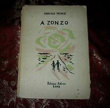 Libro Antico 1945 A Zonzo di Anatole France illustrato da Orfeo Tamburi