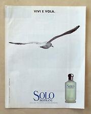 C020-Advertising Pubblicità-1997-SOLO SOPRANI EAU DE TOILETTE UOMO DONNA