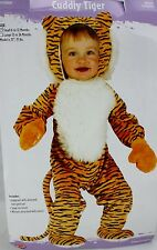 Halloween Infant Cuddly Tiger Jumpsuit Costume Size Small 6-12 Months NWT
