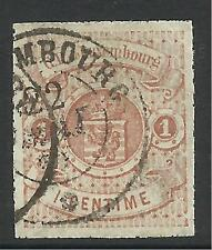 LUXEMBOURG. 1865. 1c Red-Brown, Plain Roulette. SG:16. Fine Used.
