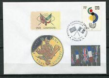 FRANCE - env. 1° jour, Drapeaux, entente cordiale 2004