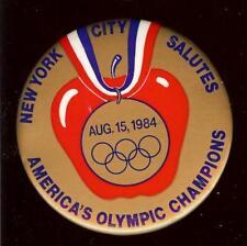 old pin 1984 NEW YORK ITYC Salutes OLYMPICS Champions Big Apple