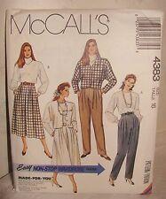 MCCALL'S 4383 Easy SKIRT JACKET Pattern..Sz. 16..UNCUT