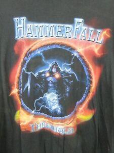 Vintage Hammerfall Threshold Stedman Mens T Shirt Size XL Crew Neck Rare 2006