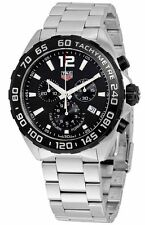TAG Heuer Stainless Steel Strap Watches with Chronograph
