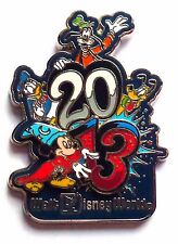 Disney Pin Badge Dated 2013 - Sorcerer Mickey, Donald, Goofy, and Pluto