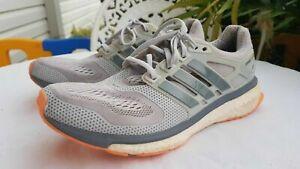 Adidas ~ Energy Boost Women's Trainers Grey and Orange Sz US 9