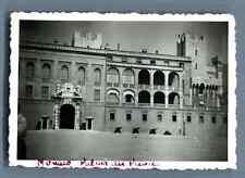 Principauté de Monaco, Palais du Prince  Vintage silver print.  Tirage argenti
