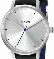 New $125 Nixon Women's Kensington Stainless Steel Watch Leather Band A1082184