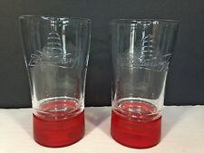 Lot of 2 Budweiser Red Light Glasses Light Up Goal-Synced Glass New No Box
