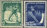 DDR 298-299 (kompl.Ausg.) postfrisch 1952 Wintersportmeisterschaften der DDR
